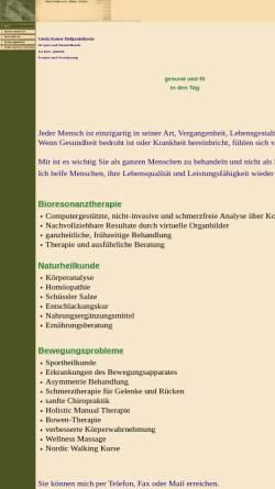 Vorschau der mobilen Webseite www.kaiser-praxis.de, Gisela Kaiser, Heilpraktikerin