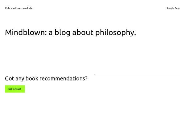 Vorschau von www.ruhrstadt-netzwerk.de, RuhrStadt Netzwerk