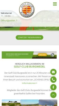 Vorschau der mobilen Webseite www.golf-burgwedel.de, Golf-Club Burgwedel