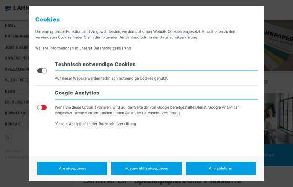 Vorschau von www.neenah-lahnstein.de, Neenah Lahnstein GmbH