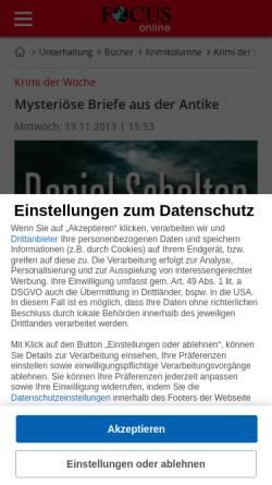 Vorschau der mobilen Webseite www.focus.de, Mysteriöse Briefe aus der Antike