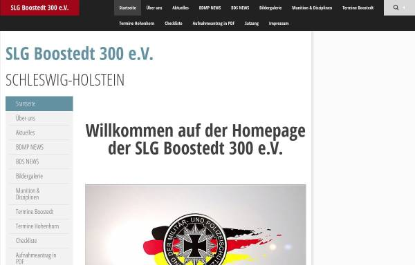 Vorschau von www.slgboostedt300.de, SLG Boostedt 300 im BDMP e. V.
