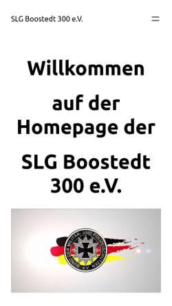 Vorschau der mobilen Webseite www.slgboostedt300.de, SLG Boostedt 300 im BDMP e. V.