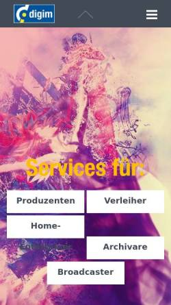 Vorschau der mobilen Webseite www.digim.de, Digital images GmbH