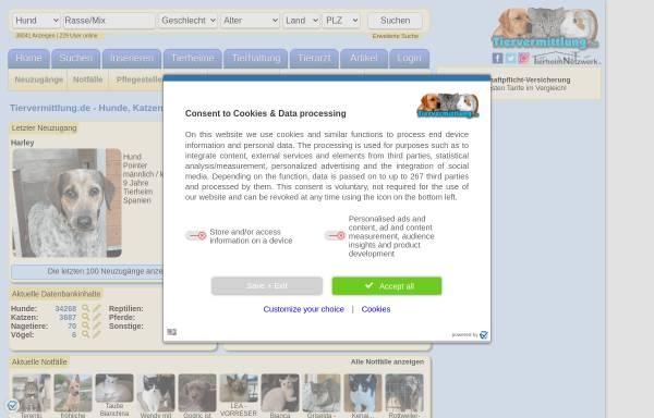 Vorschau von www.petquest.de, PetQuest.de - Tiervermittlung