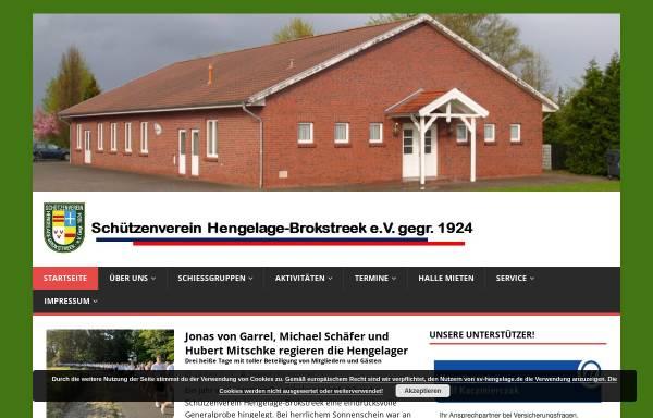 Vorschau von www.sv-hengelage.de, Schützenverein Hengelage-Brokstreek e.V.