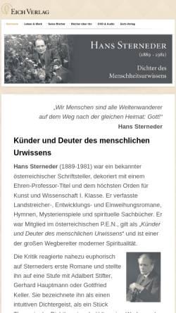 Vorschau der mobilen Webseite www.hans-sterneder.de, Hans Sterneder Weblog