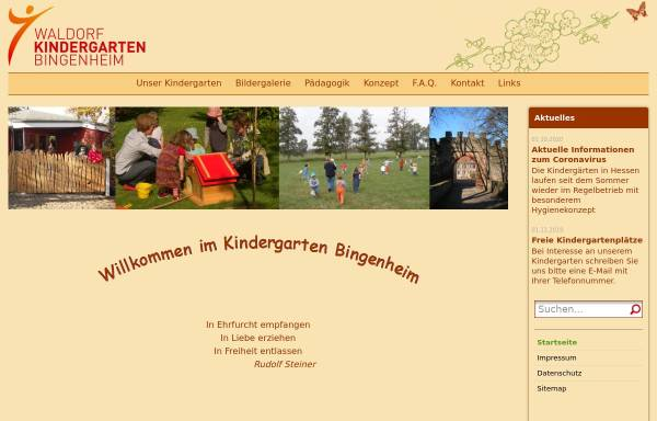 Vorschau von www.waldorfkindergarten-bingenheim.de, Waldorfkindergarten Bingenheim