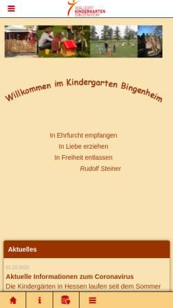 Vorschau der mobilen Webseite www.waldorfkindergarten-bingenheim.de, Waldorfkindergarten Bingenheim