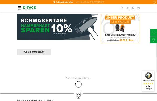Vorschau von www.d-tack.de, D-TACK Klebeband