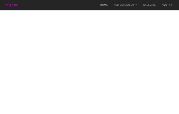 Vorschau von www.mispi.de, Ferienhausvermittlung Mi Spirandelli