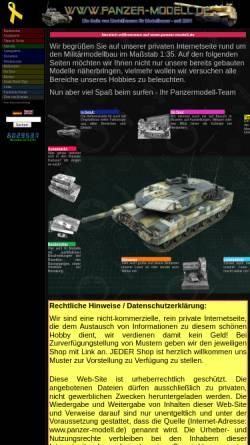 Vorschau der mobilen Webseite www.panzer-modell.de, Panzer-Modell.de