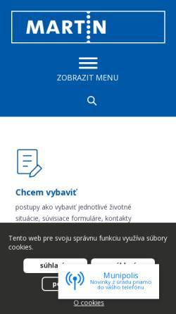 Vorschau der mobilen Webseite www.martin.sk, Martin