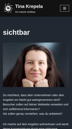 Vorschau der mobilen Webseite www.krepela.de, Peter und Tina Krepela