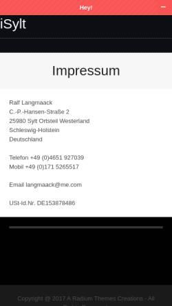 Vorschau der mobilen Webseite www.sylt-immobilien-schlueter.de, Immobilien-Schlüter