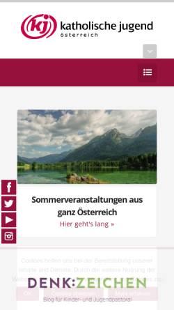 Vorschau der mobilen Webseite katholische-jugend.at, Katholische Jugend der Erzdiözese Wien