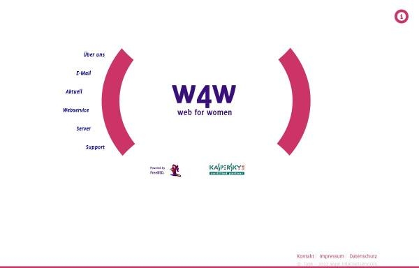 Vorschau von www.w4w.net, W4W Internetproviderdienst für Frauen