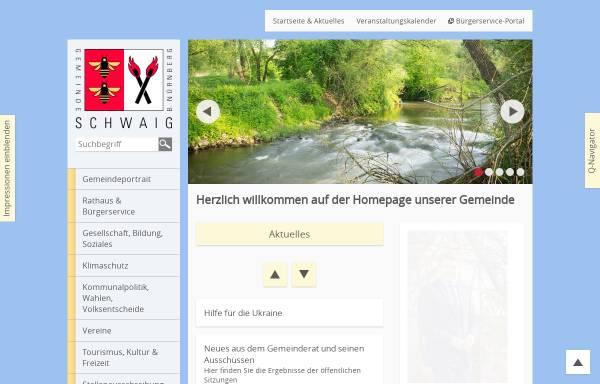 Vorschau von www.schwaig.de, Gemeinde Schwaig b. Nürnberg