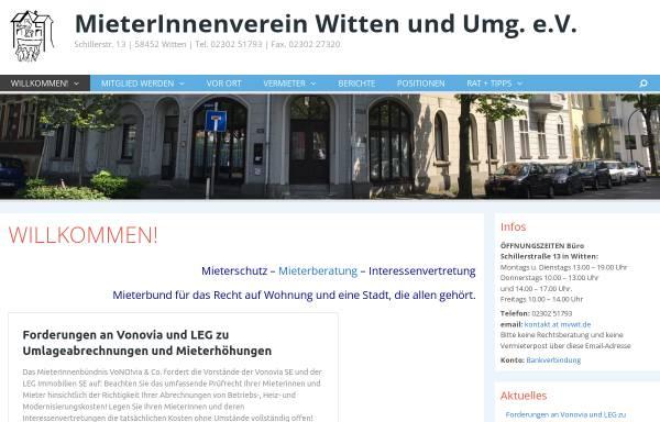 Vorschau von www.mvwit.de, MieterInnenverein Witten