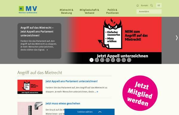 Vorschau von www.mieterverband.ch, Schweizerischer Mieterinnen- und Mieterverband