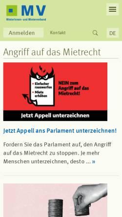 Vorschau der mobilen Webseite www.mieterverband.ch, Schweizerischer Mieterinnen- und Mieterverband
