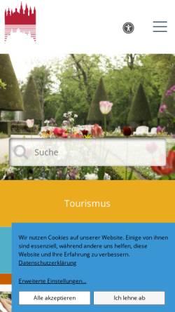 Vorschau der mobilen Webseite www.wuerzburg.de, Stadt Würzburg