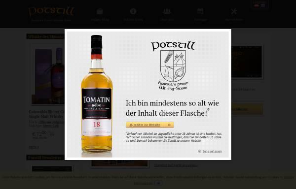 Vorschau von potstill.org, Austrias finest Whisky Shop