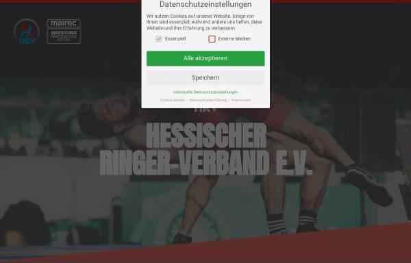 Vorschau von hessischer-ringerverband.de, Hessischer Ringer-Verband e.V.
