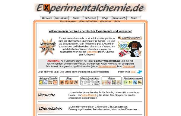 Vorschau von www.experimentalchemie.de, Experimentalchemie.de