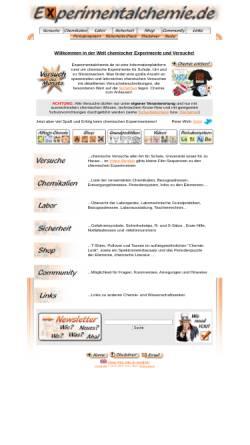 Vorschau der mobilen Webseite www.experimentalchemie.de, Experimentalchemie.de