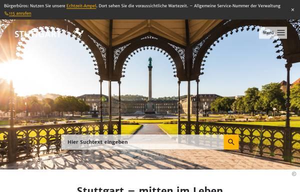 Vorschau von www.stuttgart.de, Landeshauptstadt Stuttgart