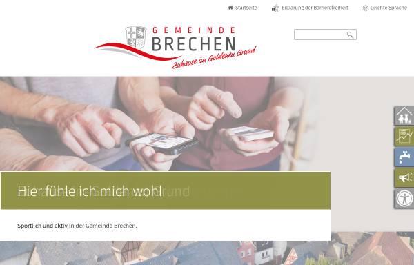 Vorschau von www.brechen.de, Offizielle Seite der Gemeinde Brechen