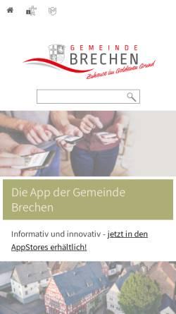 Vorschau der mobilen Webseite www.brechen.de, Offizielle Seite der Gemeinde Brechen
