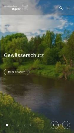 Vorschau der mobilen Webseite www.iva.de, Industrieverband Agrar e.V.