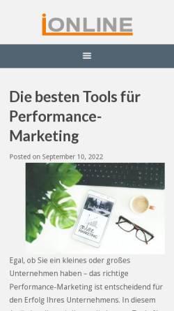 Vorschau der mobilen Webseite www.impulsonline.de, Impuls Finanzmanagement AG