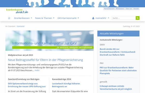 Vorschau von www.krankenkassen-direkt.de, kkdirekt
