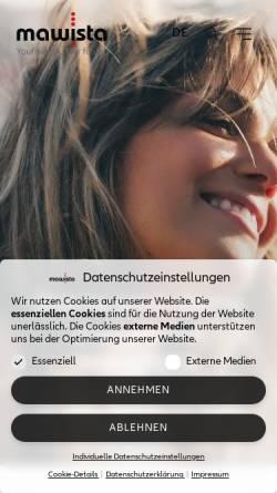 Vorschau der mobilen Webseite www.mawista.com, Mawista