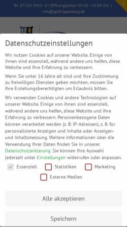 Vorschau der mobilen Webseite www.schlossnippenburg.de, Golfclub Schloss Nippenburg