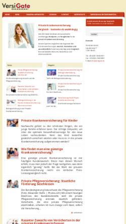 Vorschau der mobilen Webseite www.versigate.de, VersiGate, Inh. Gabriele Köppen