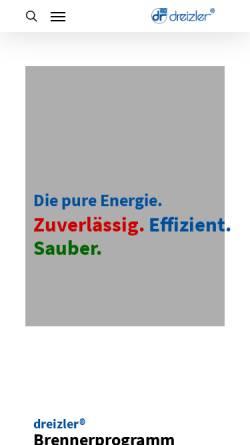 Vorschau der mobilen Webseite www.dreizler.com, Walter Dreizler GmbH