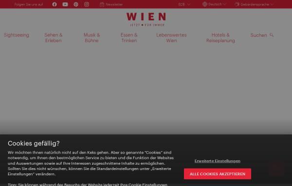 Vorschau von www.wien.info, Wiener Tourismusverband