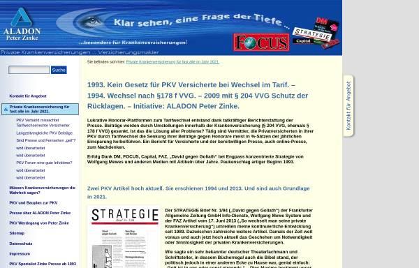 Vorschau von www.aladon.de, Zinke, Peter