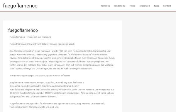 Vorschau von www.fuegoflamenco.de, Fuego Flamenco