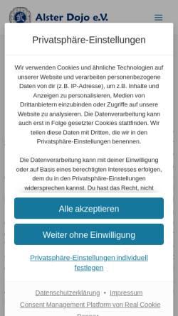 Vorschau der mobilen Webseite www.alster-dojo.de, Alster-Dojo Hamburg e.V.
