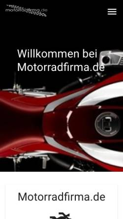 Vorschau der mobilen Webseite www.motorradfirma.de, B&B Motorradhandel