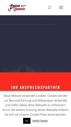 Vorschau der mobilen Webseite www.zweirad-knoderer.de, Zweirad Knoderer Kollmer GmbH