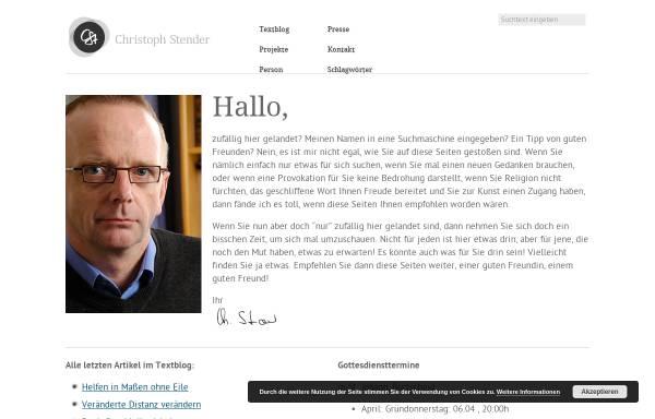 Vorschau von www.christoph-stender.de, Christoph Stender · Lyrik und Kunstprojekte zu Lebens- und Glaubensfragen