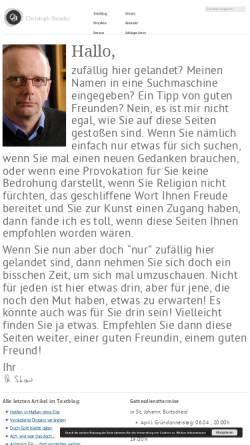 Vorschau der mobilen Webseite www.christoph-stender.de, Christoph Stender · Lyrik und Kunstprojekte zu Lebens- und Glaubensfragen