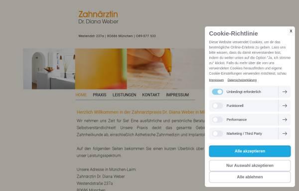 Vorschau von www.zahnarzt-laim.de, Dr. Diana Weber, Zahnärztin