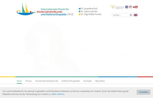 Vorschau von kinderzahnaerzte.com, Kinderzahnärzte - Dr. Esch und Dr. Geissler